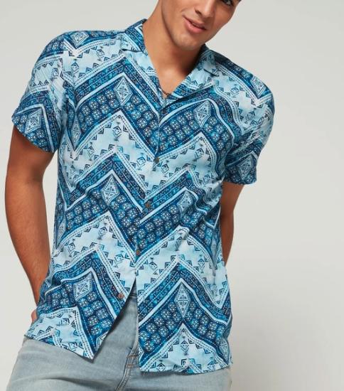 Printed Camper Shirt
