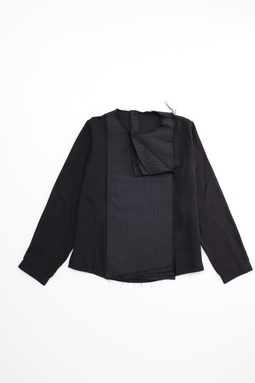 Layered Front Panel Blouse